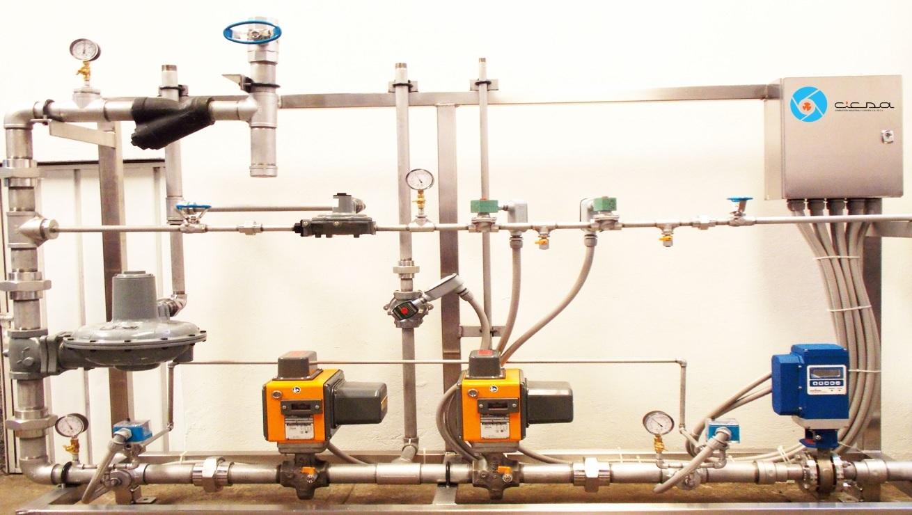Trenes de v lvulas cicsa for Instalacion de gas lp